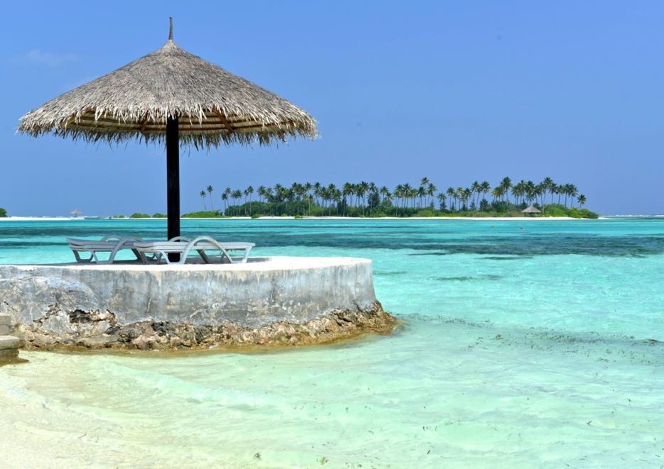 Urlaub unter Palmen: die Malediven