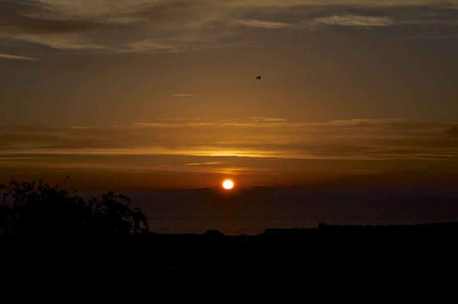 Schöne Sonnenuntergänge inklusive