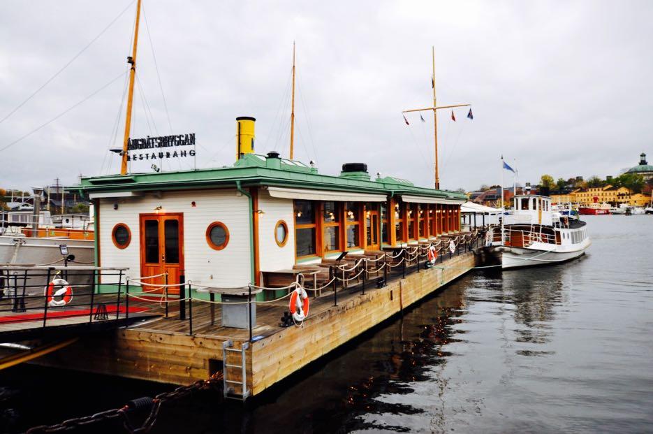 Kein Hausboot, sondern ein Restaurant