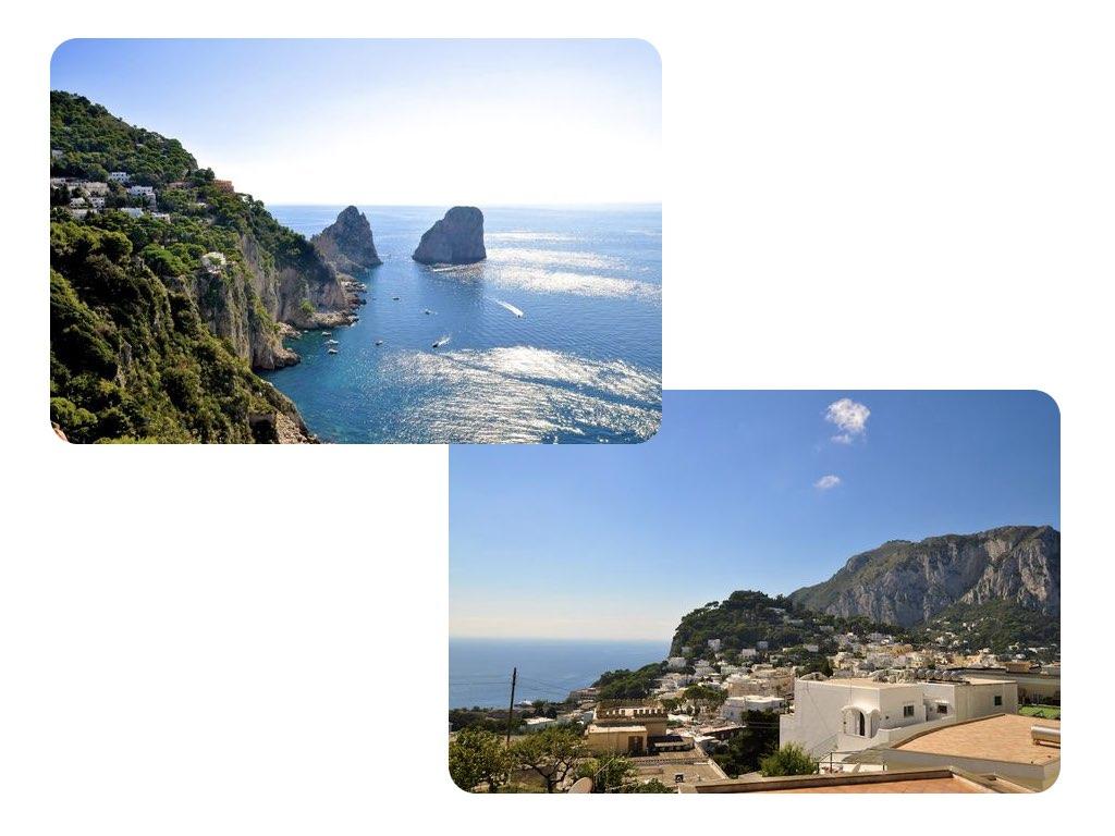 Die beiden Felsen sind charakteristisch für Capri.