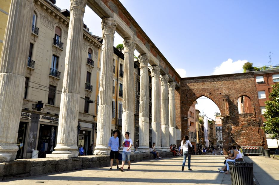 Dass Mailand nicht erst seit gestern steht, beweisen diese historischen Säulen.