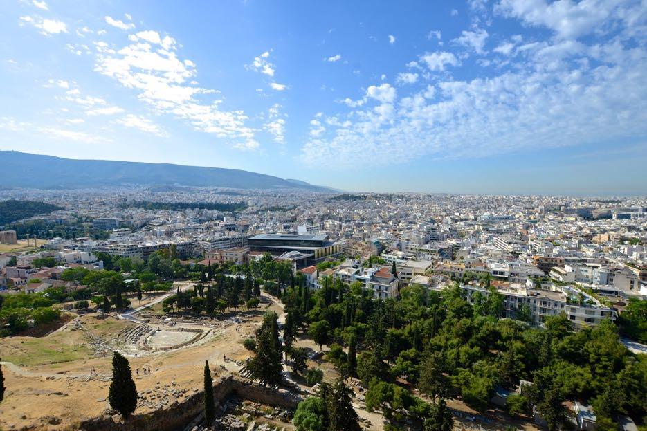 Fast 4 Millionen Menschen wohnen im Großraum Athen.