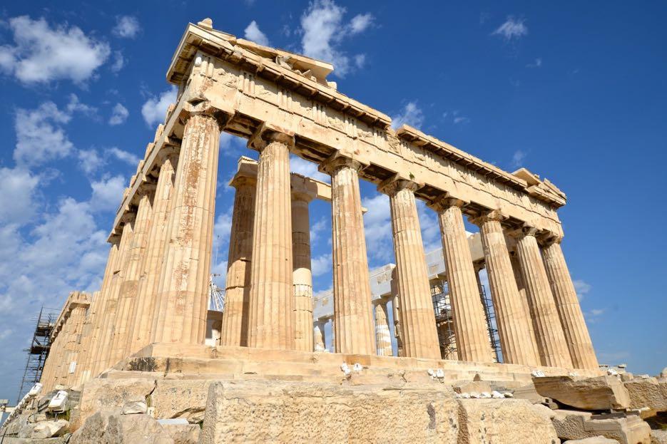 Das Prunkstück der Akropolis: das Parthenon