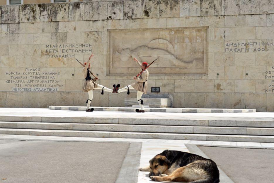 Gewöhnungsbedürftig, aber interessant: der Wachwechsel der Ehrengarde vor dem Grab des Unbekannten Soldaten.