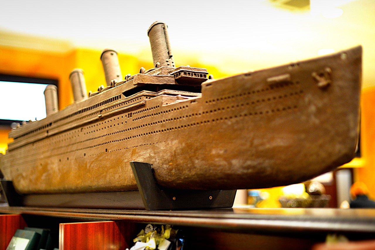 Die Titanik aus Schokolade