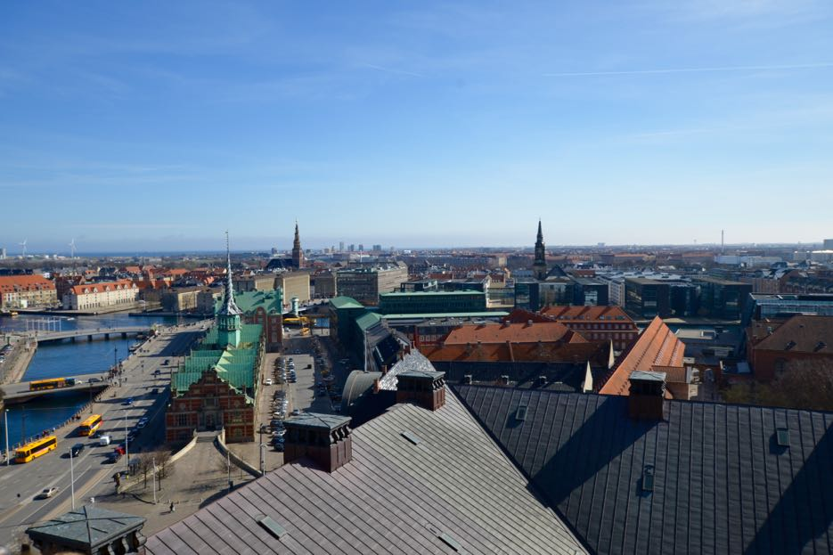 Ausblick von Schloss Christiansborg