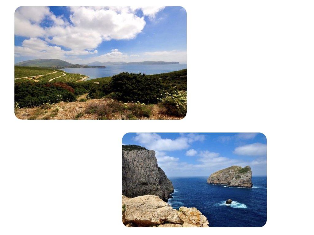 Sardinien: Der Weg zur Neptungrotte führt durch eine malerische Landschaft.