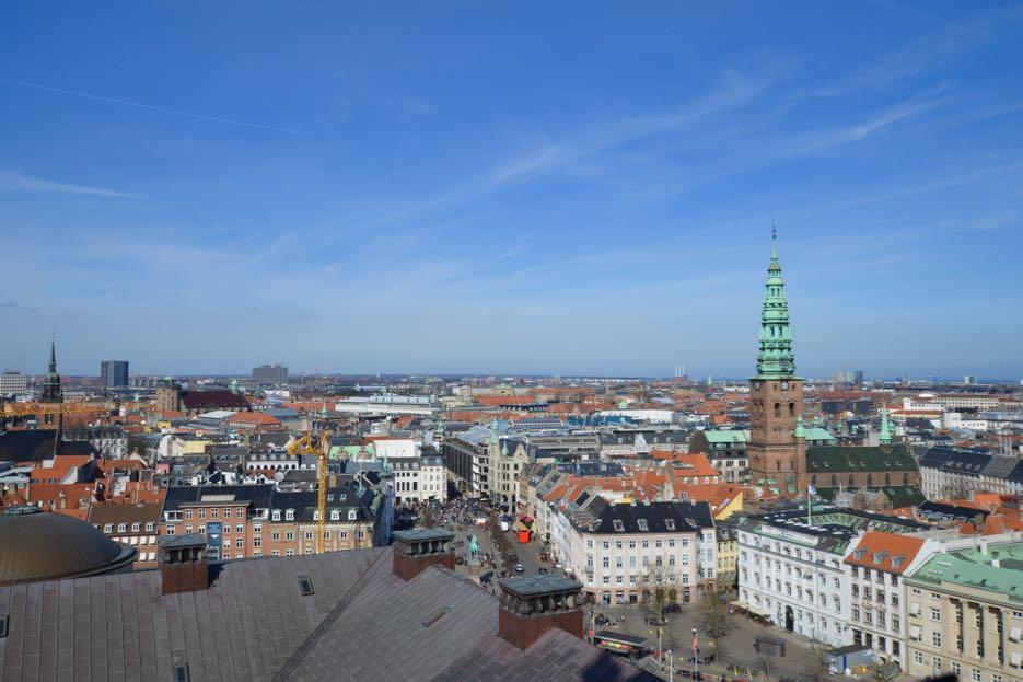 Blick von Ausblick von Schloss Christiansborg