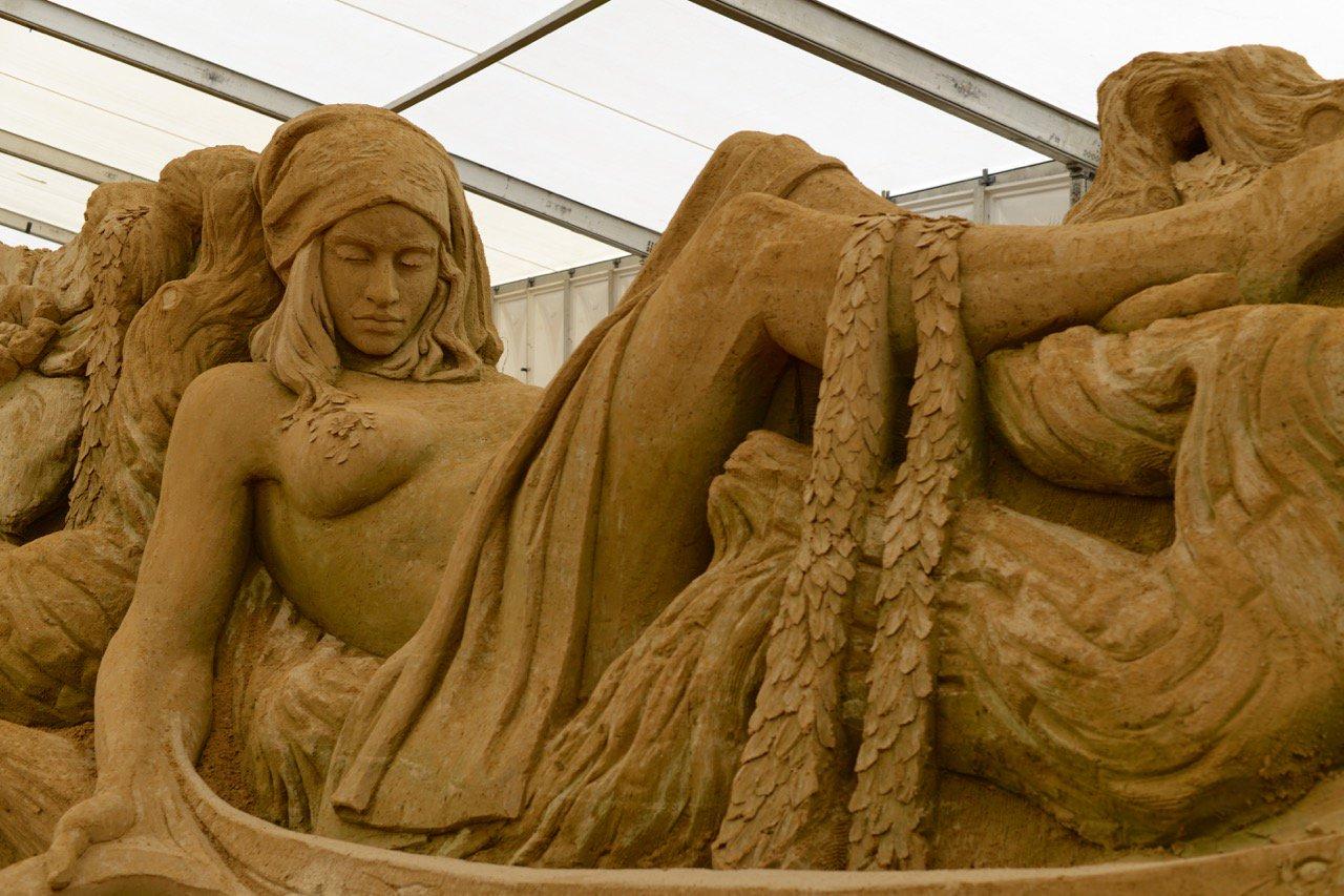 Sandskulptur Festival: der Zoo aus Sand