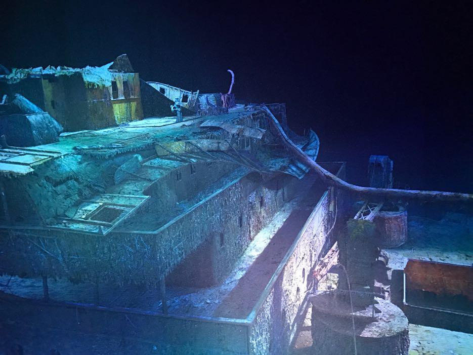 Asisi Leipzig: 3.800 Meter tief liegt das Wrack der Titanik.