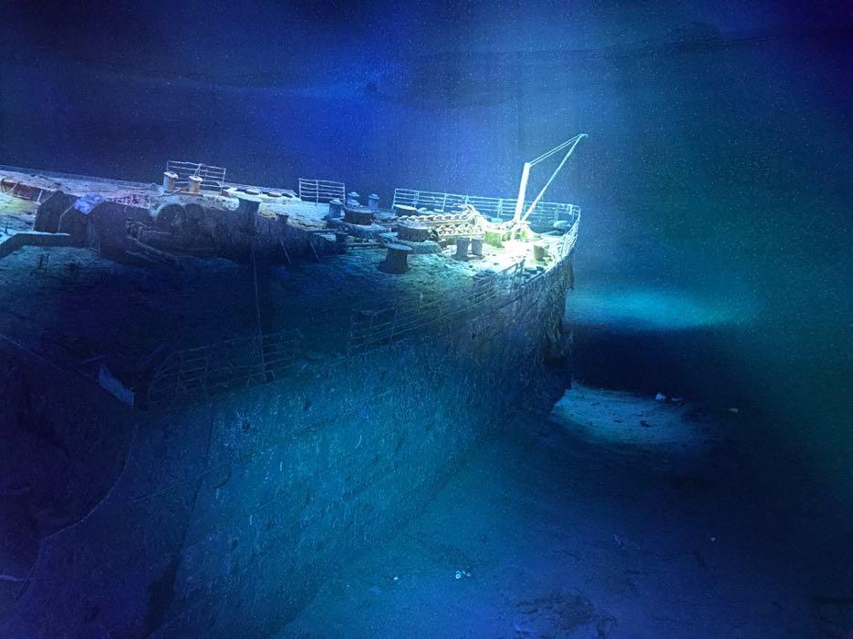 Asisi Leipzig: Das Bordorchester spielte bis zum bitteren Ende, damit keine Panik aufkommt. Alle Musiker gingen mit der Titanik unter.
