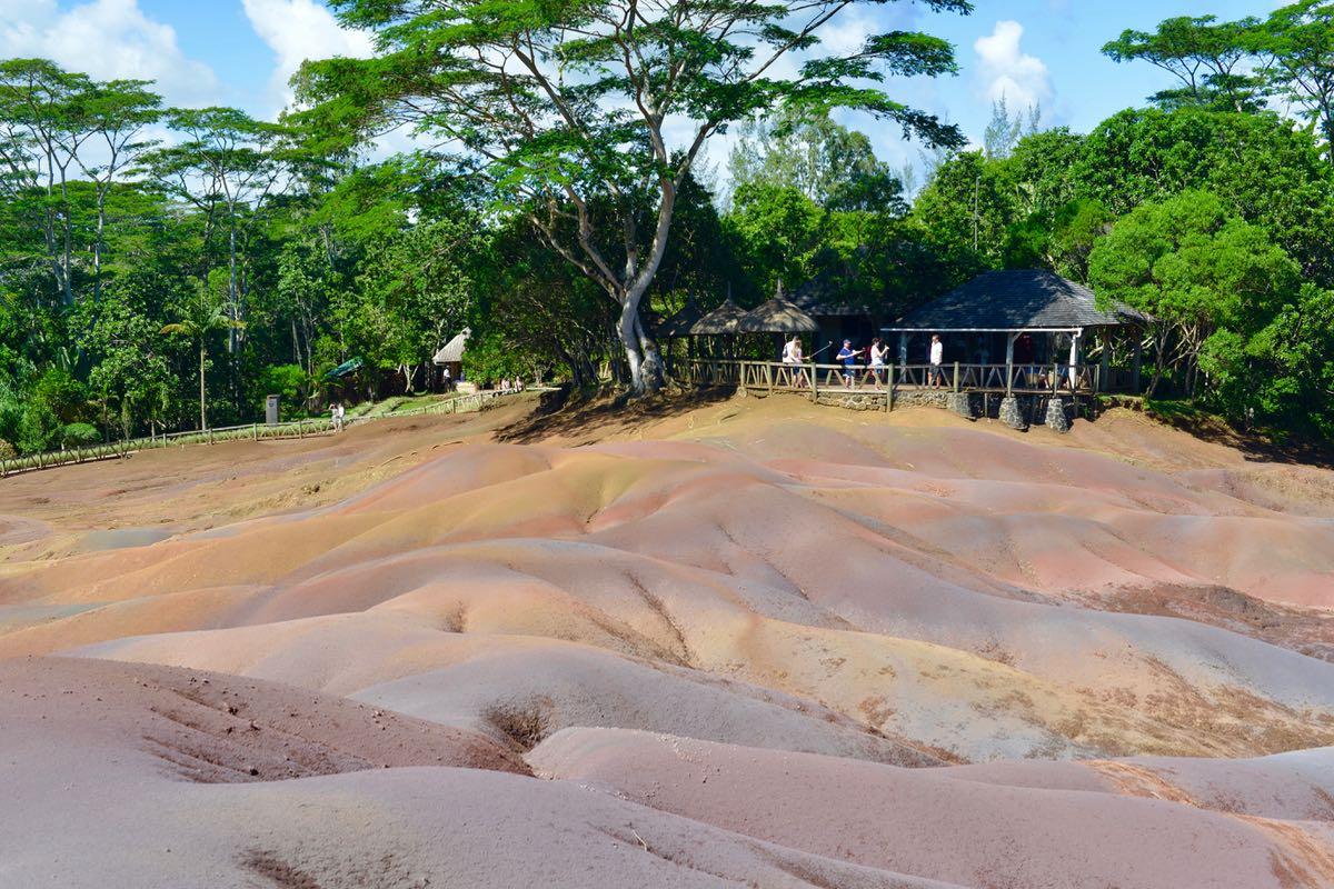 Die siebenfarbige Erde auf Mauritius