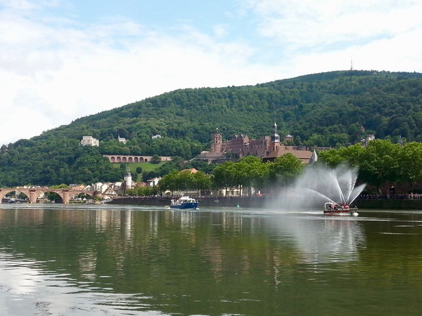 Heidelberg: der perfekte Ort für eine Charmeoffensive. Fotos: Bärbel.