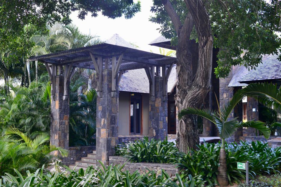 Eingang zum Spa-Bereich im Royal Palm Mauritius
