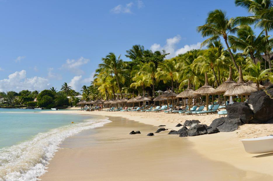 Perfekter Sandstrand – und das ist auf Mauritius nicht selbstverständlich.